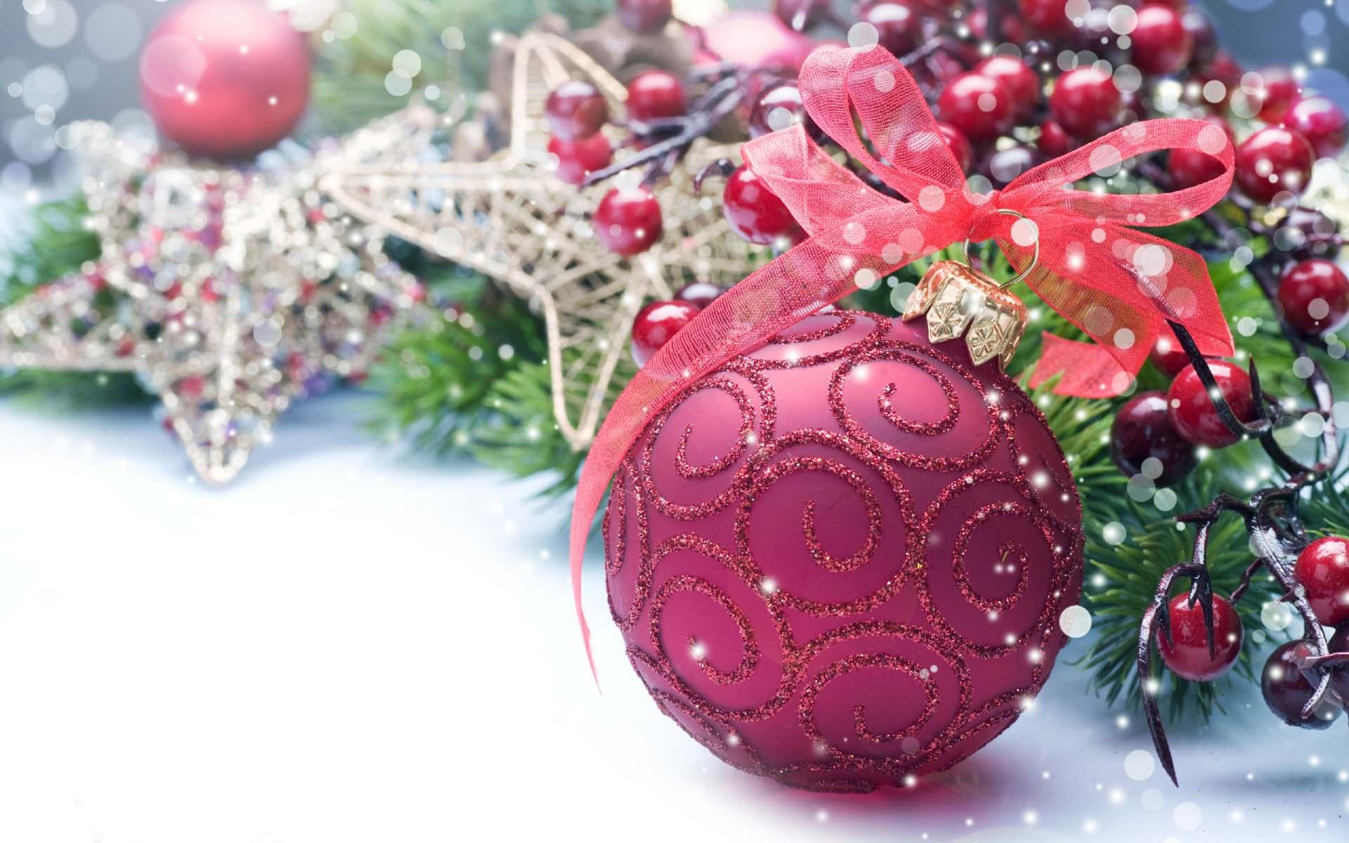 Beautiful pink ball for pink christmas 1920x1200