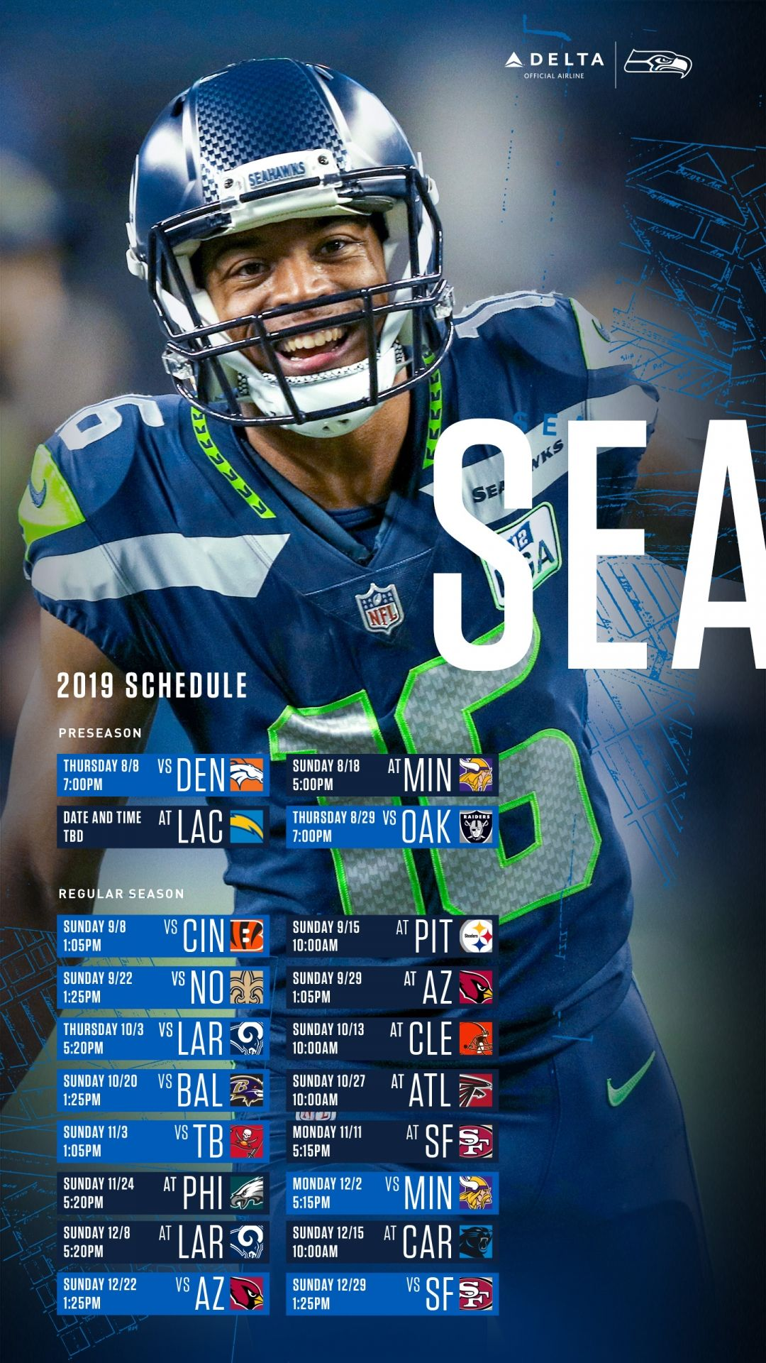 Seattle Seahawks Wallpaper Android in 2020 Seahawks Seattle 1080x1920