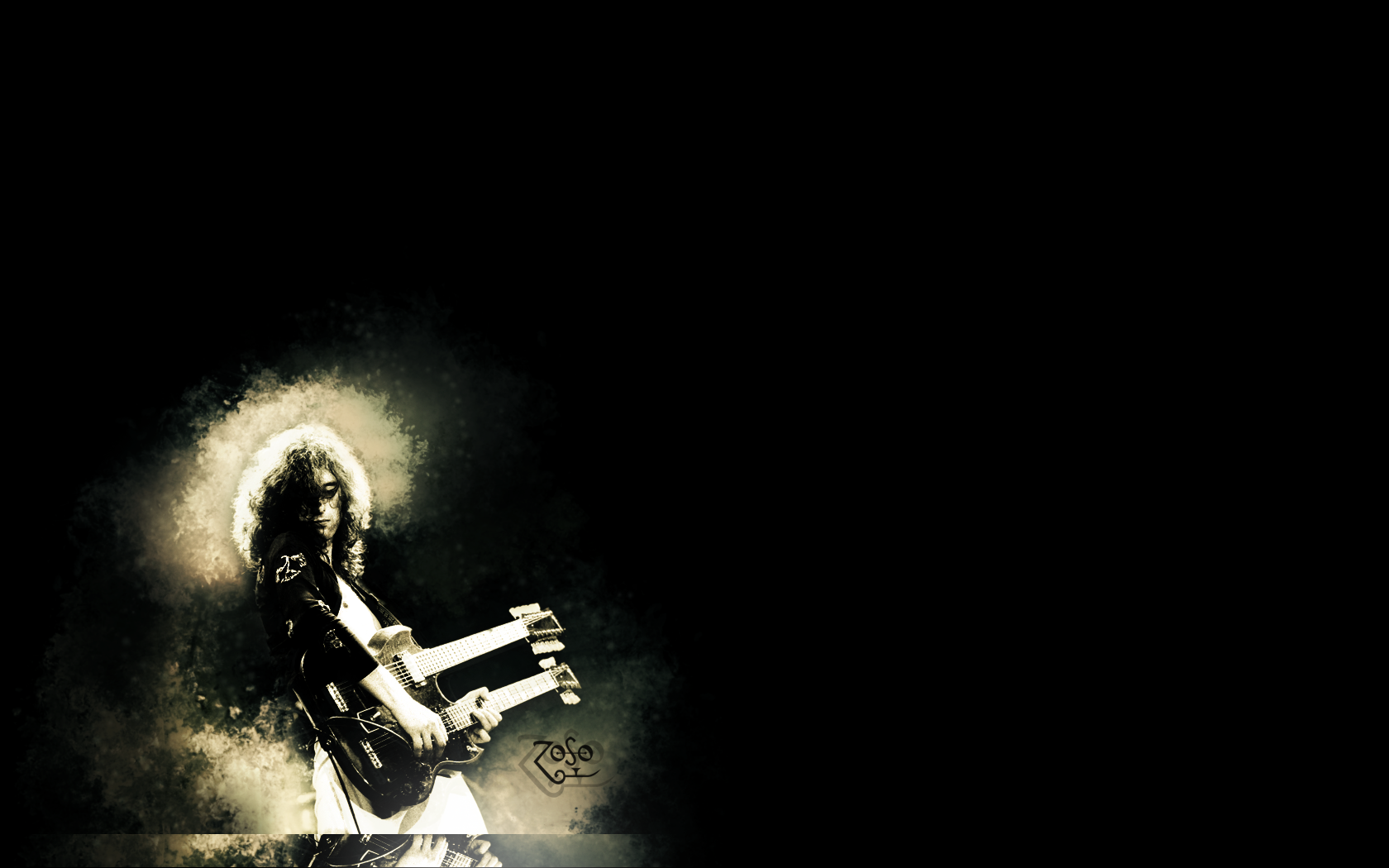 Jimmy Page Lordoflastbench Fan Art Wallpaper Other 1680x1050