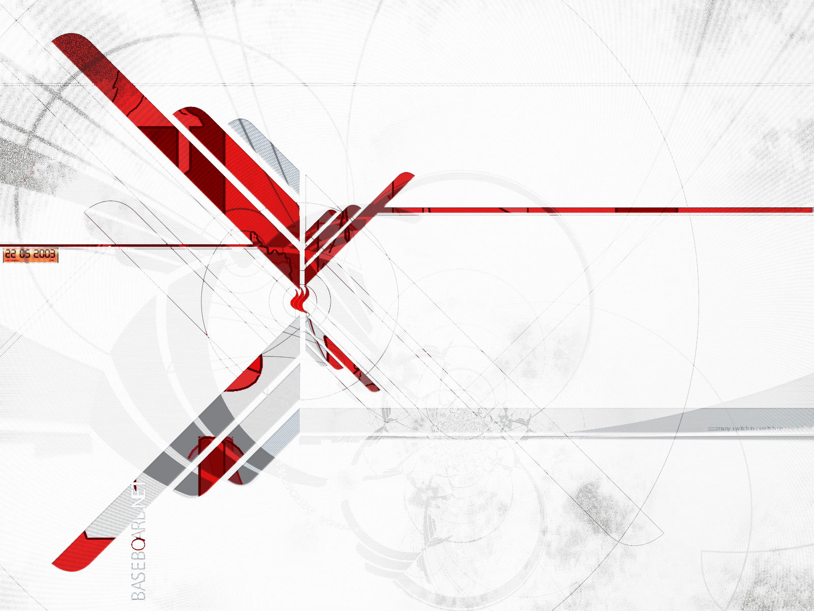 Red Black White Abstract Wallpaper 1600x1200