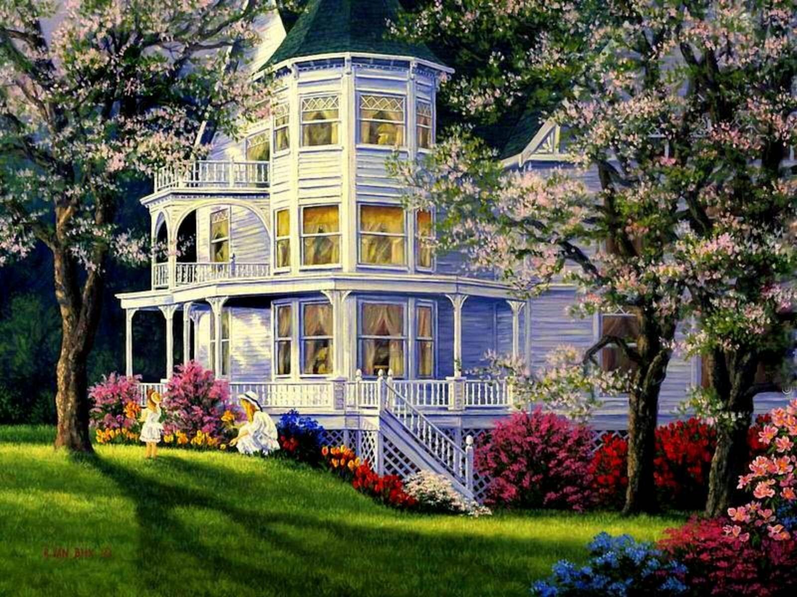 historic homes wallpaper wallpapersafari. Black Bedroom Furniture Sets. Home Design Ideas