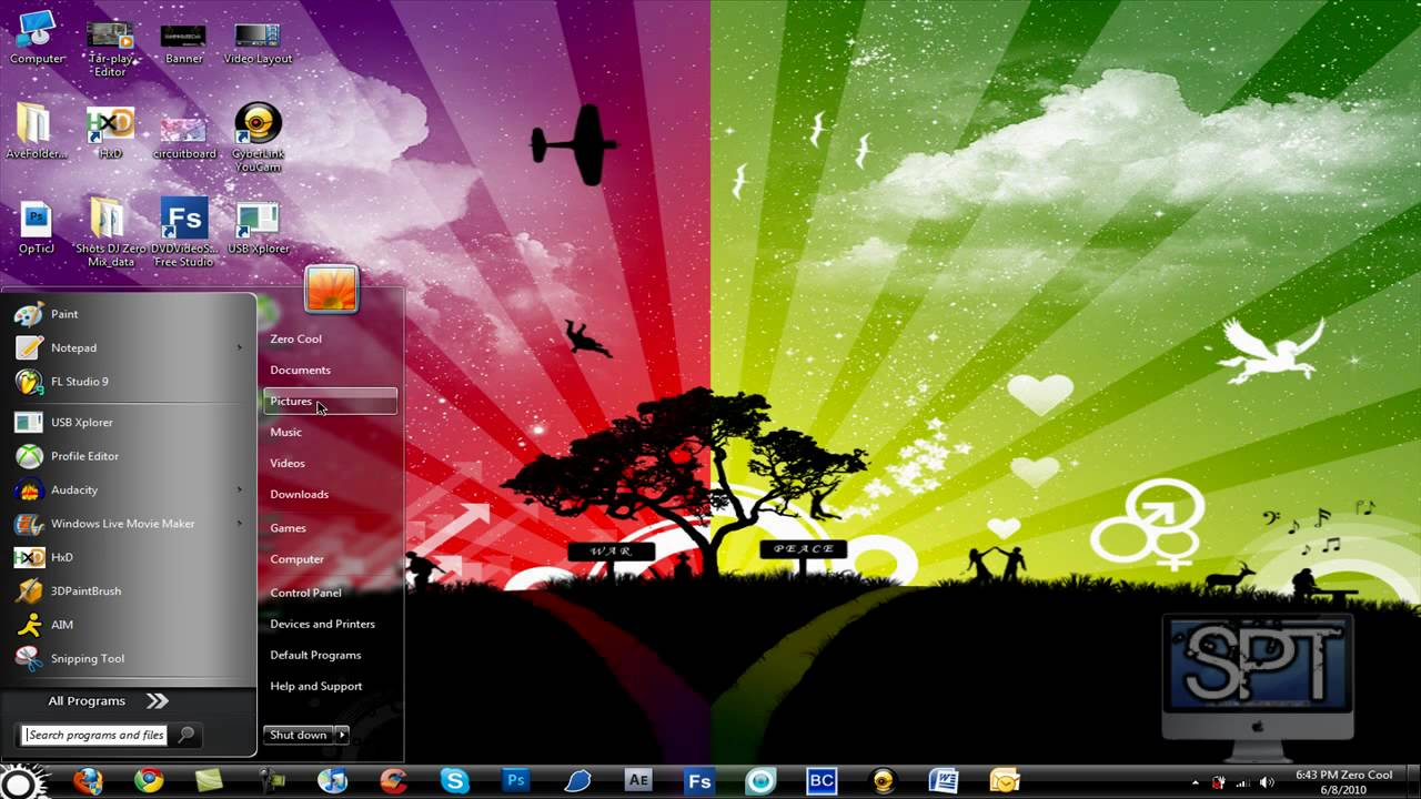 How to Install and use folder backgrounds on a Microsoft Windows 7 1280x720