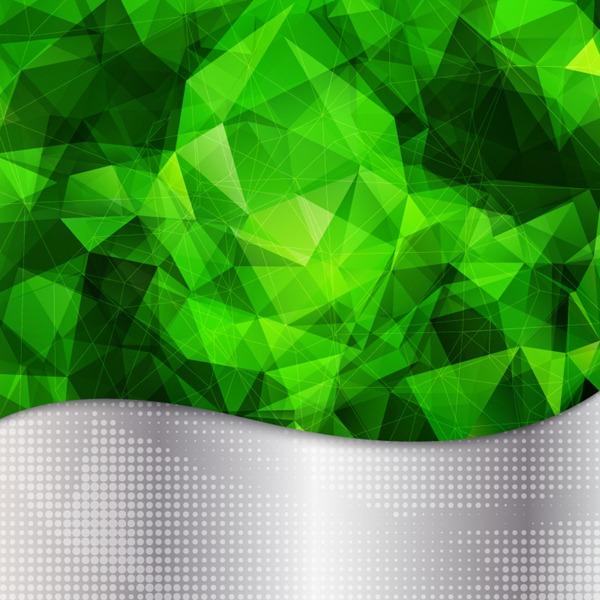 Emerald green metallic background vector graphics 600x600