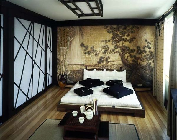 Serene and tranquil Asian inspired bedroom interiors 600x476