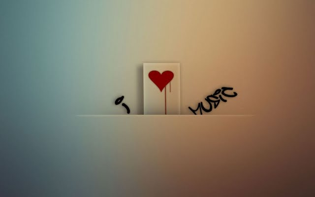 High resolution I Love Music desktoplaptop wallaper Listed in 640x400