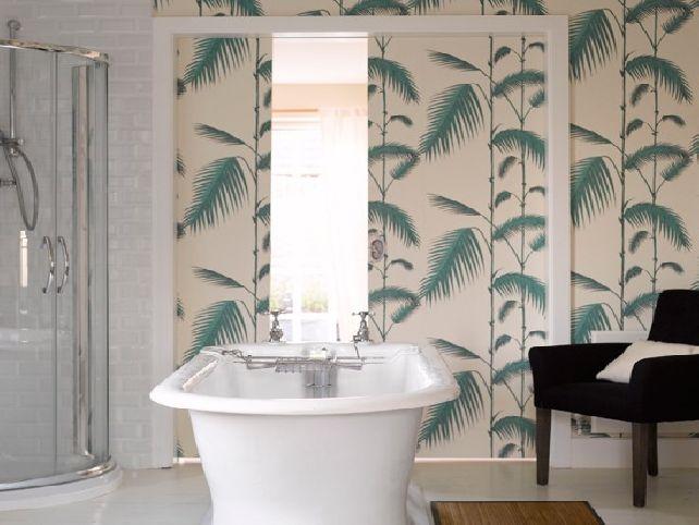 Bathroom wallpaper designs 642x482