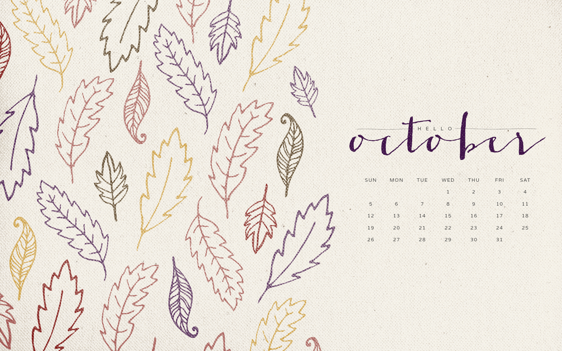 October Quote Wallpaper 1856x1161