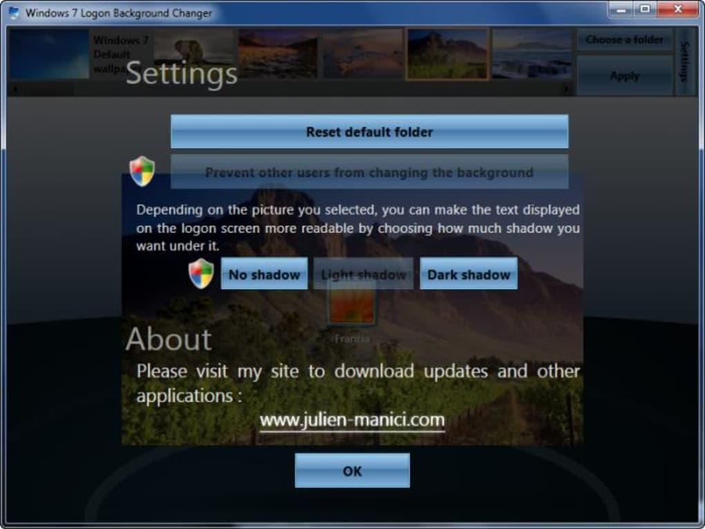 Windows 7 Logon Background Changer Windows   Download 1020x765
