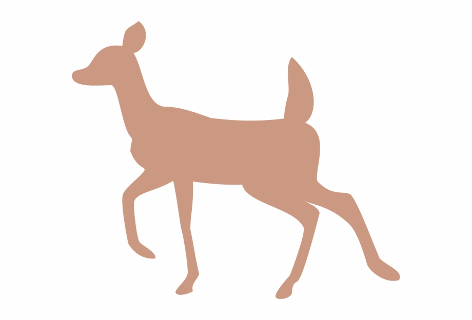 Doe And Fawn Silhouette   Transparent Background Doe Silhouette 920x624