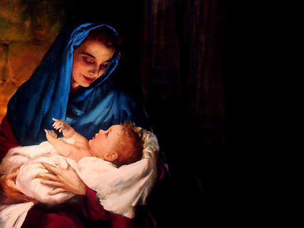 69 Mother Mary With Baby Jesus Wallpaper On Wallpapersafari