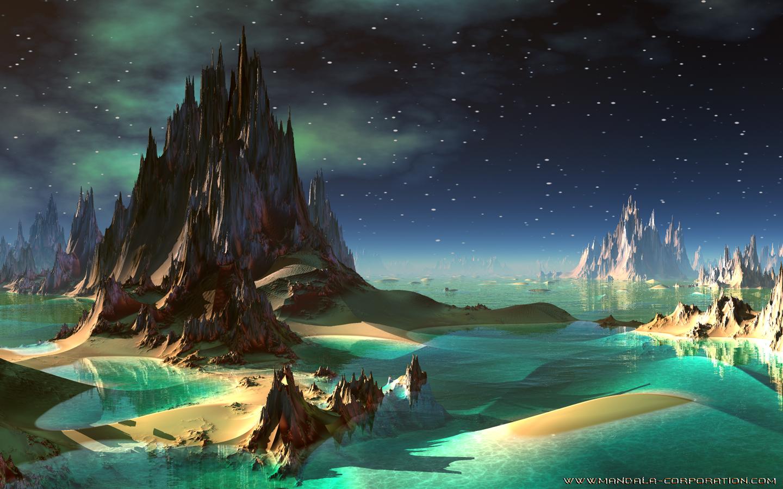 alien landscapes fantasy - HD1440×900