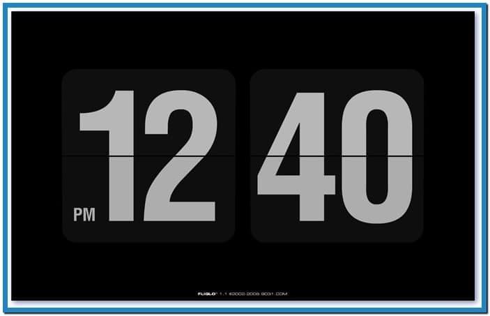 Digital clock screensaver for desktop   Download 703x453