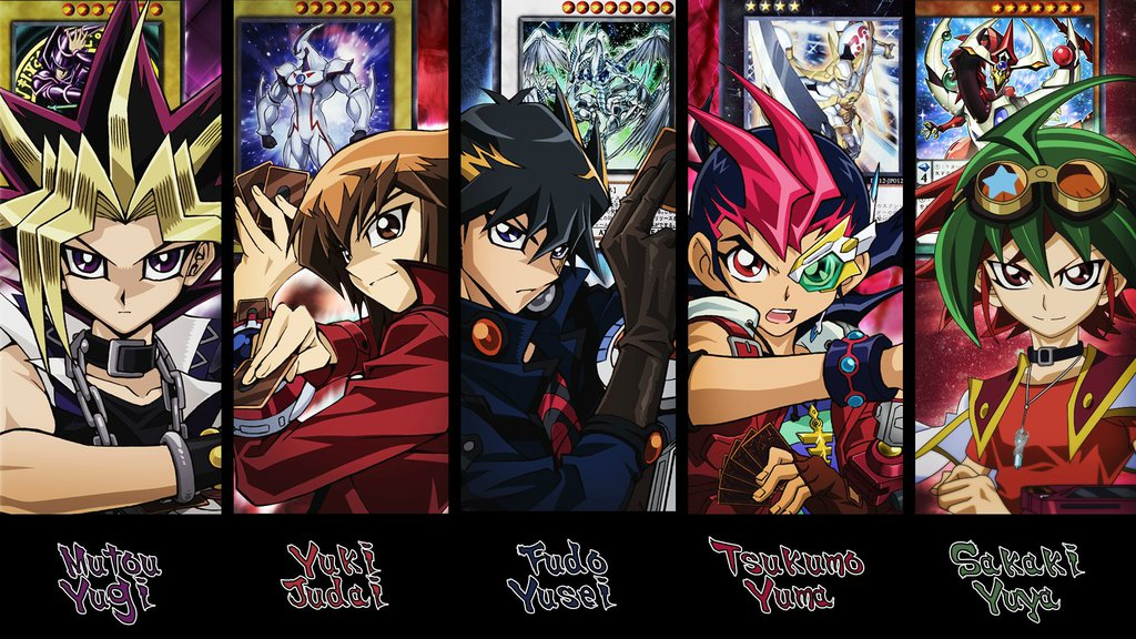 Yu Gi Oh   Main Protagonists Wallpaper V2 by KaitouYahiko on 1024x576