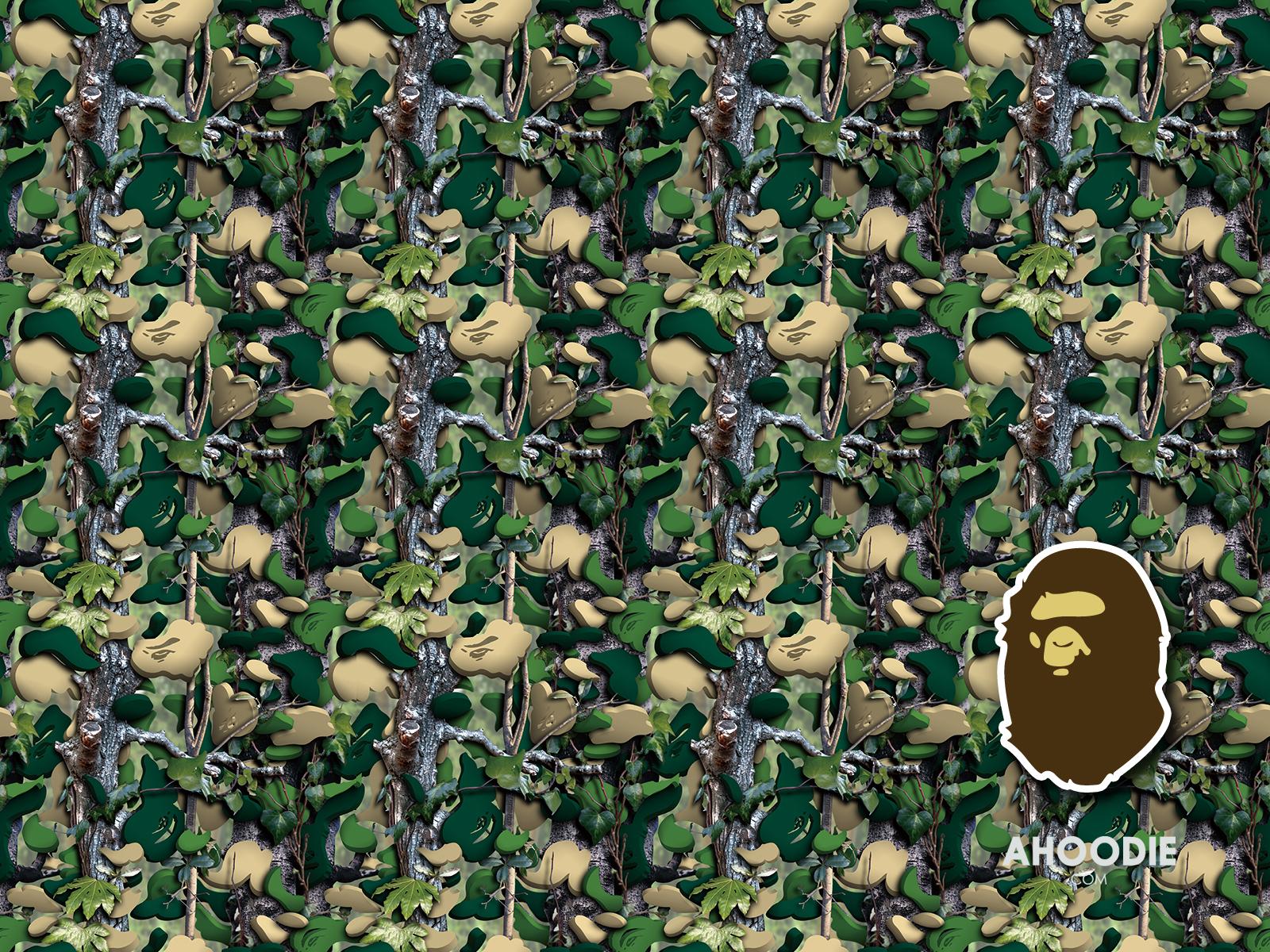 Bape Iphone Wallpaper Bape camo wall 1600x1200
