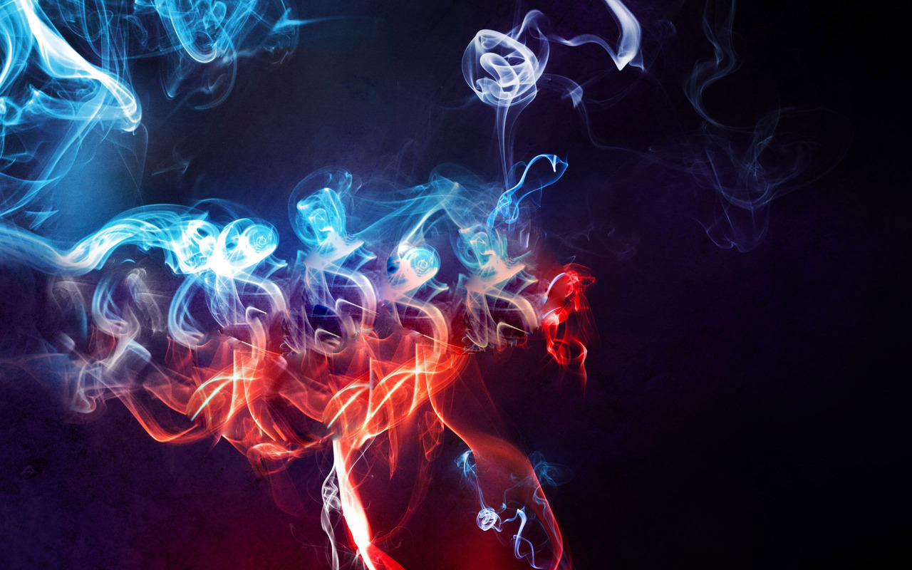 Colorful smoke wallpaper 18545 1280x800