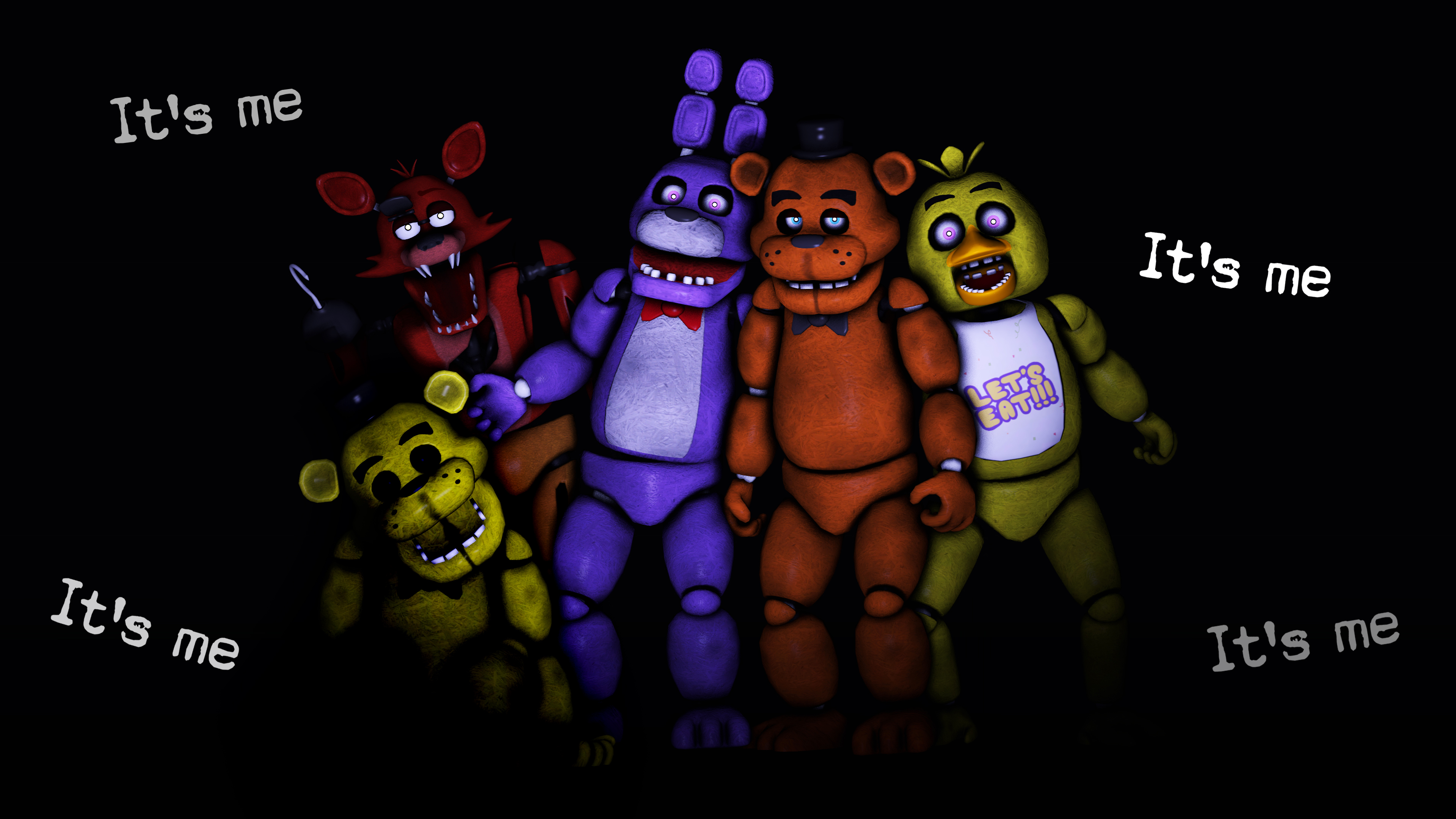 SFM] FNAF Animatronics by LoneWolfHBS 3840x2160