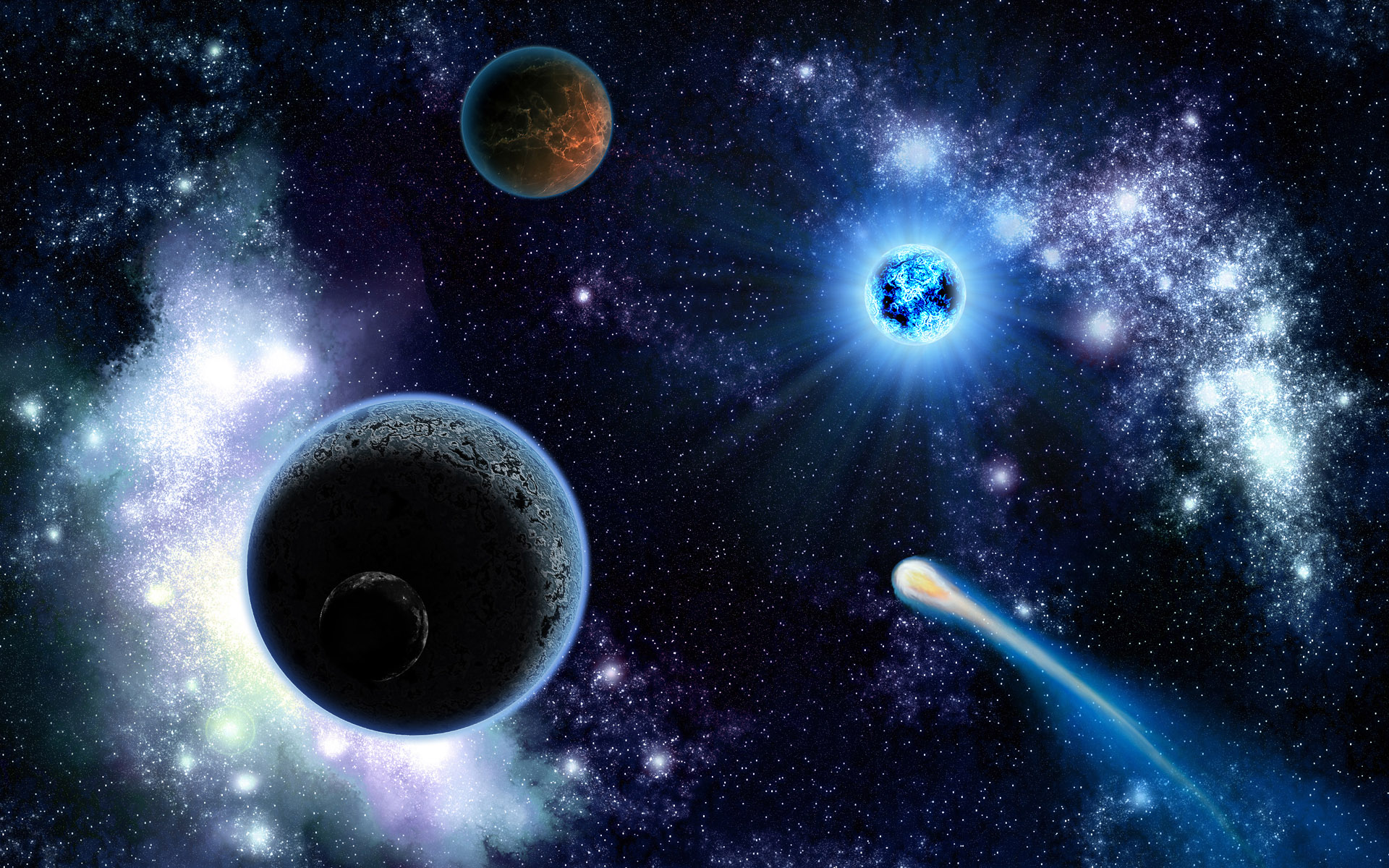 Space Planets And Comets   Wallpaper 9985 1920x1200