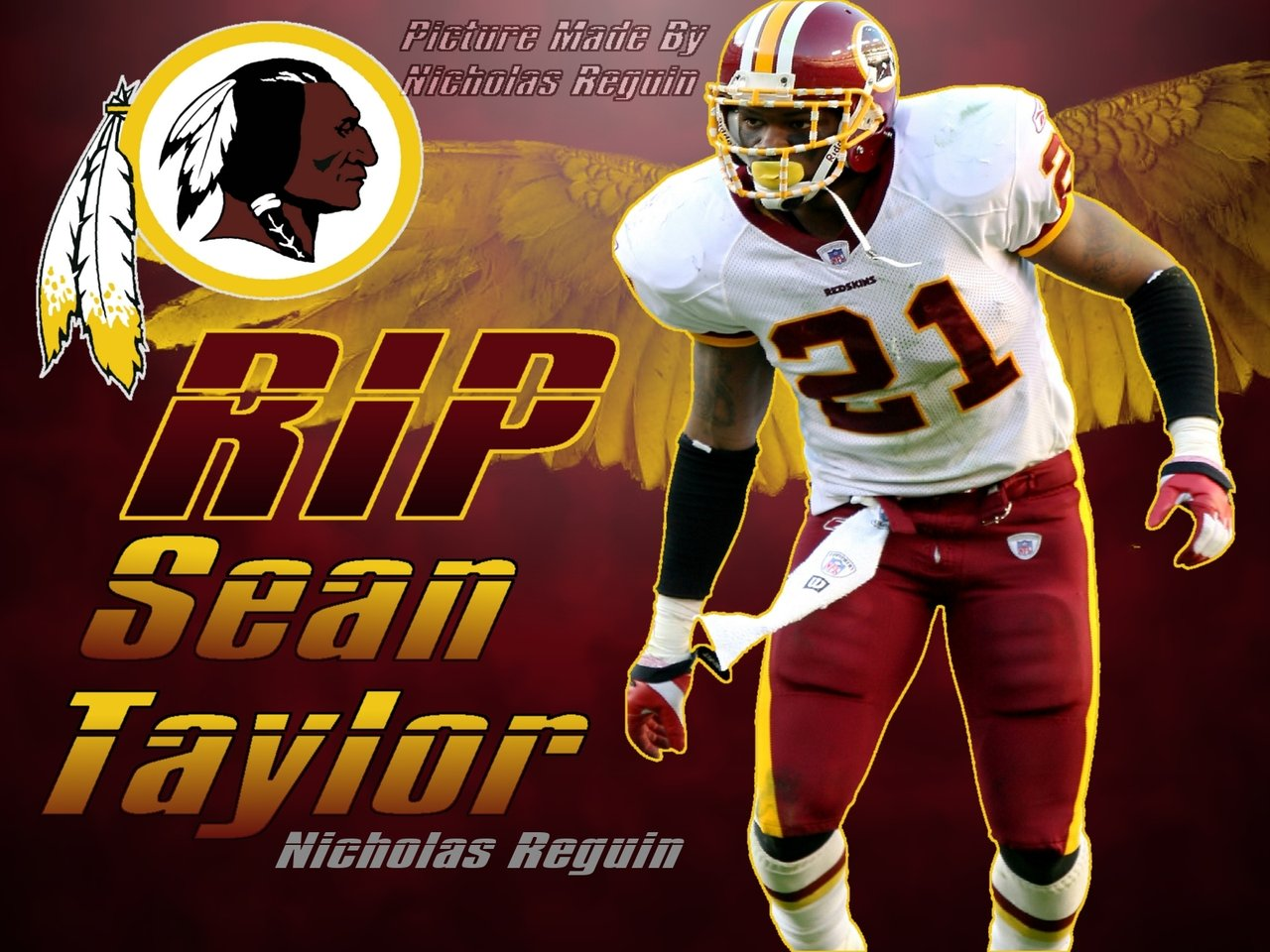 RIP Sean Taylor Washington Redskins Background by FBGNEP 1280x960