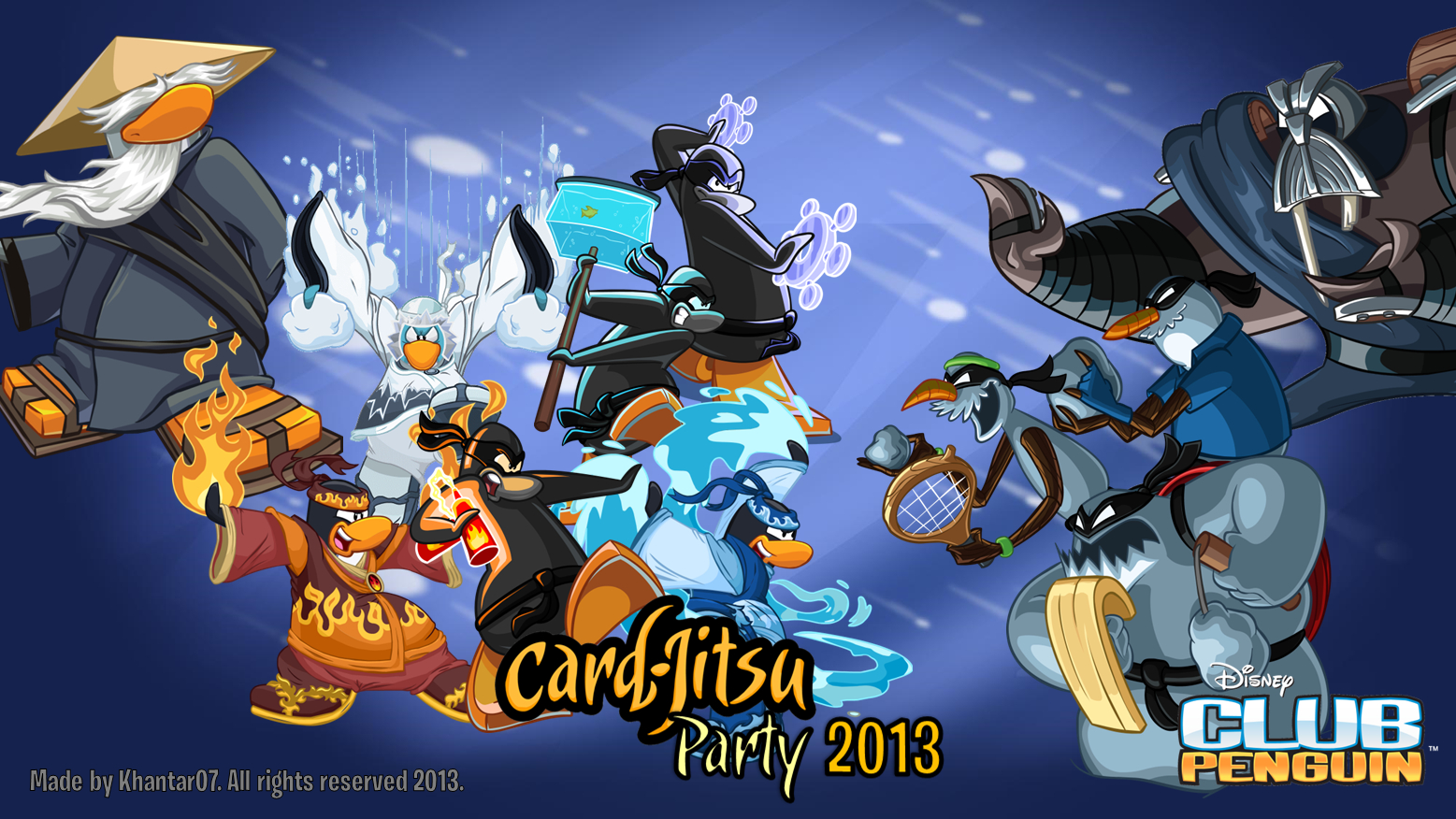 Image   Club Penguin Card Jitsu Party 2013 Wallpaper made by Khantar07 1557x876