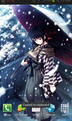 View bigger   Anime Snow Live Wallpaper for Android screenshot 307x512