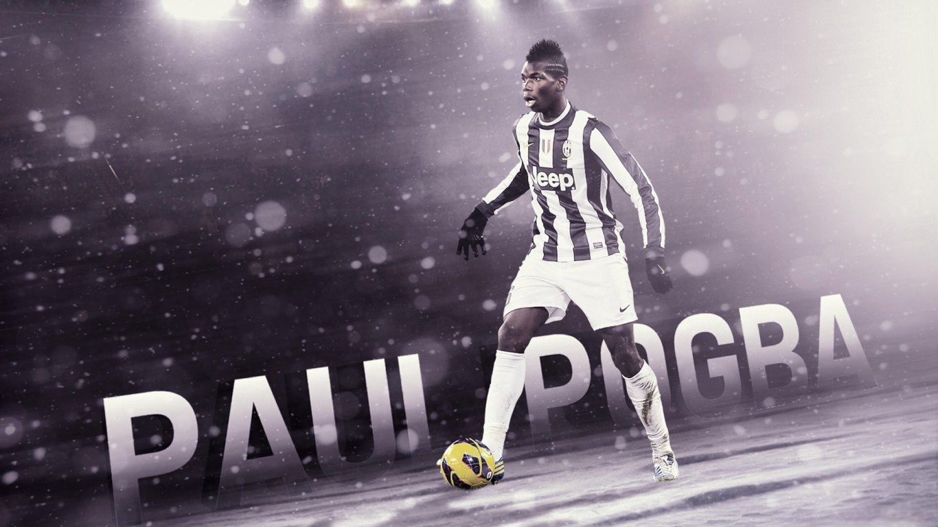Paul Pogba Juventus Wallpaper   Football Wallpapers HD 1366x768