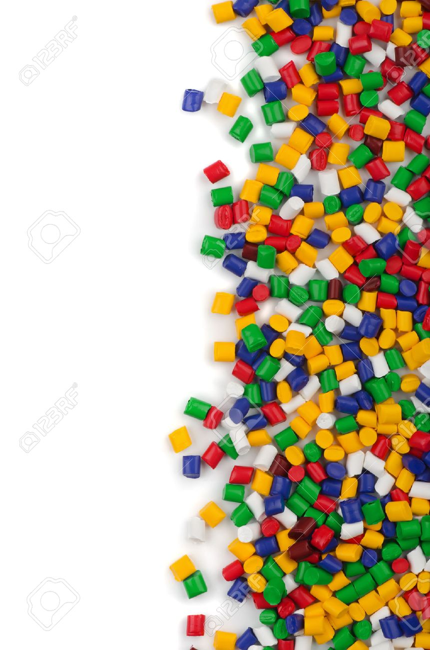 Colorful Plastic Polymer Granules On White Background Stock Photo 861x1300
