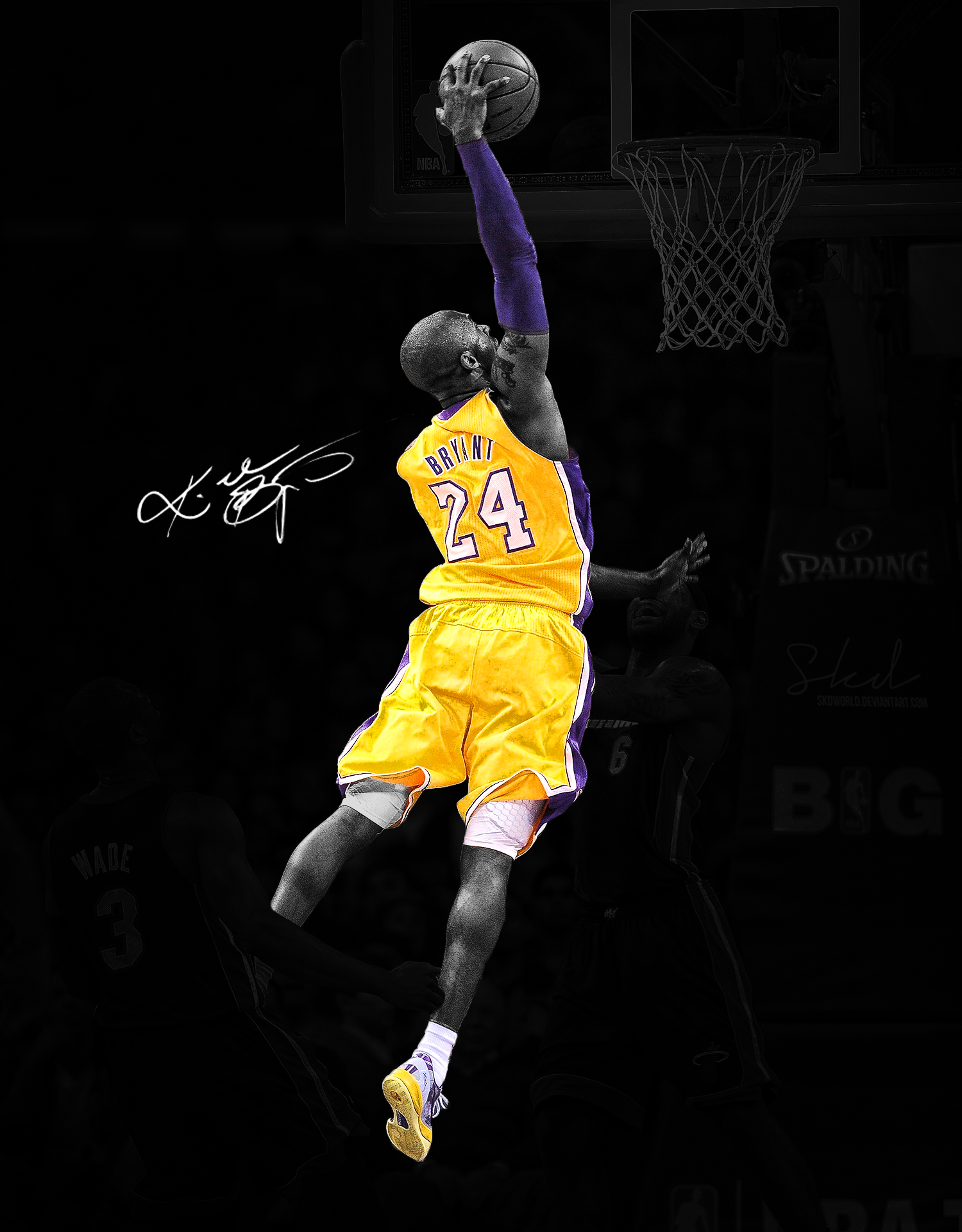 Kobe Bryant Dunk On Lebron James Wallpapers Hd Resolution Is Cool 1500x1920