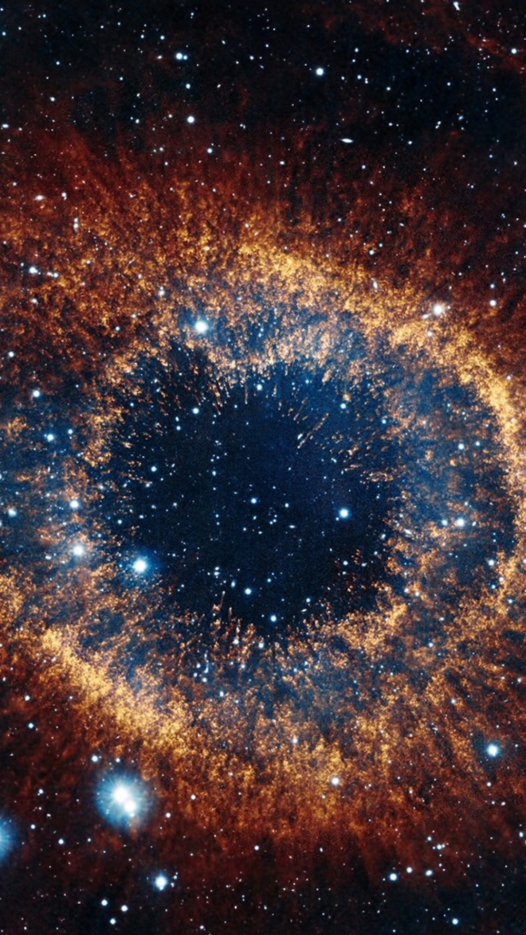 1080x1920 Helix Nebula Space Stars Explosion Brilliance Wallpaper