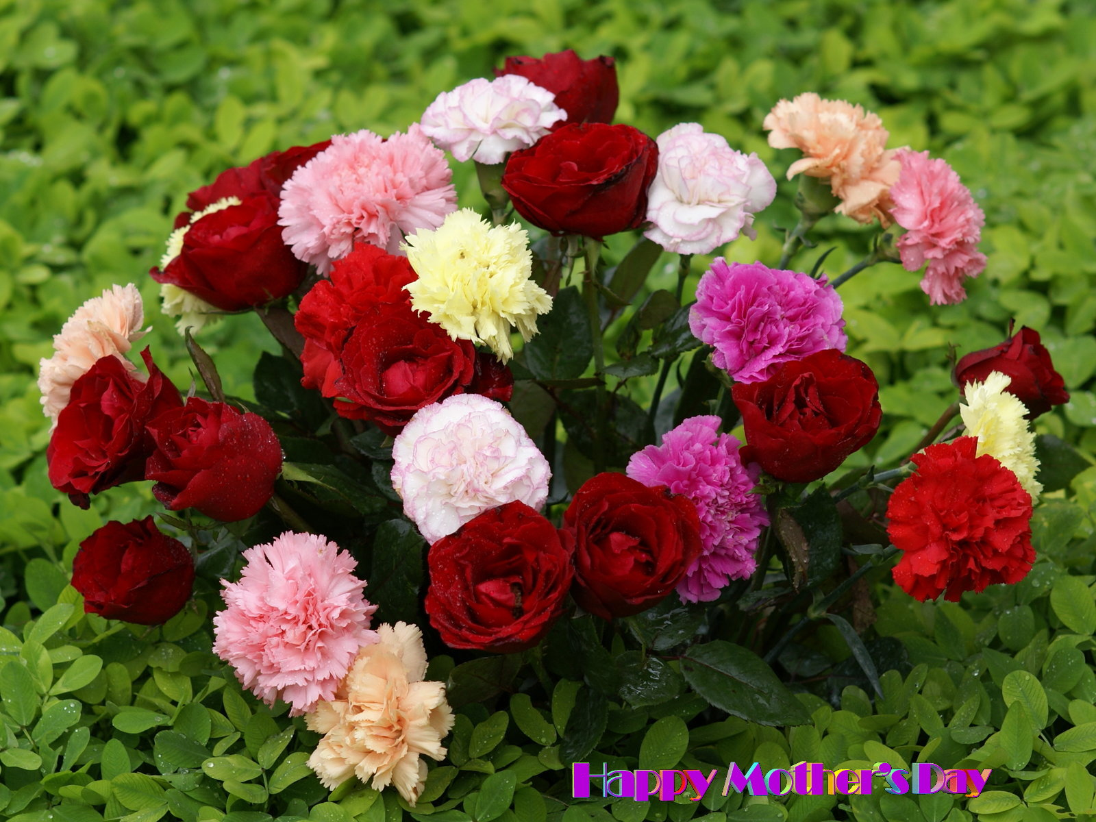 Beautiful flower bouquet   Happy Mother Day 1600x1200