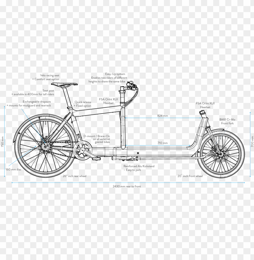 bullitt cargo bike dimensions PNG image with transparent 840x859