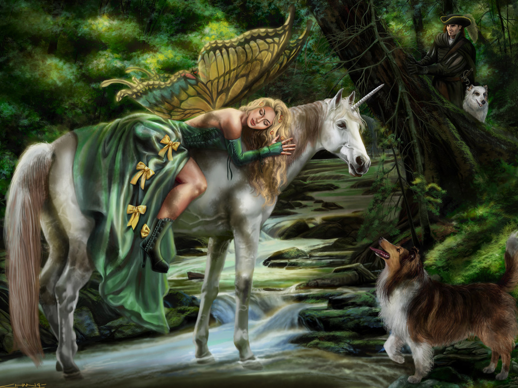 [45+] Unicorn and Fairy Desktop Wallpaper on WallpaperSafari