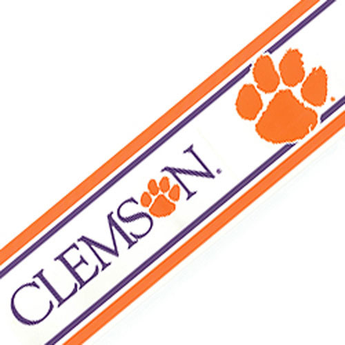 NCAA Clemson University Tigers Accent Wallpaper Border   Contemporary 500x500