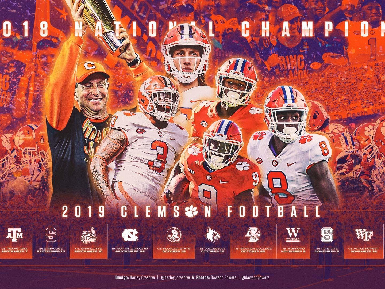 2019 Clemson Football Wallpaper Football wallpaper Clemson 1440x1080
