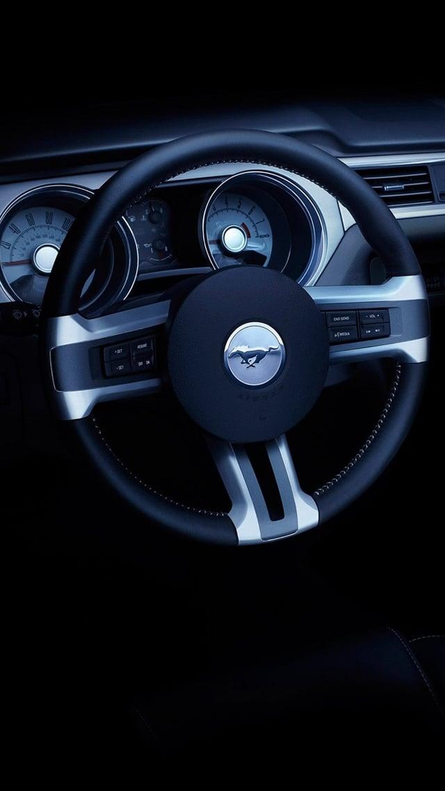 Mustang Logo Iphone Wallpaper Ford mustang convertible 640x1136