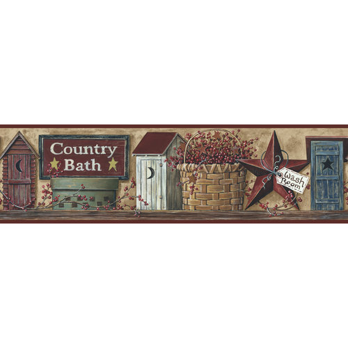 RoomMates Better Homes and Garden Country Bath Border 500x500