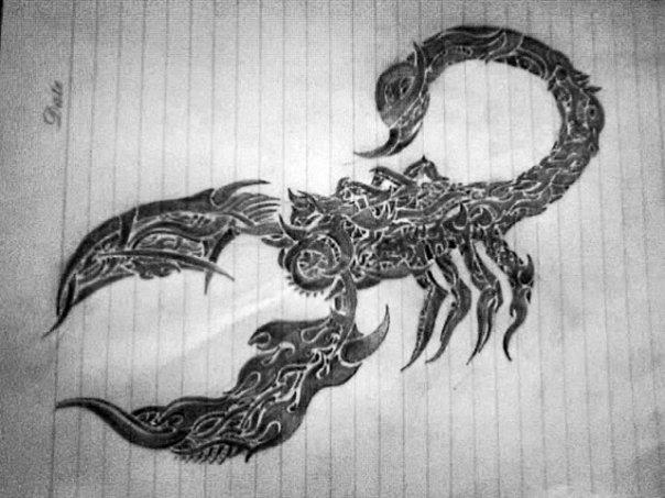 the ramydeviantartcomTribal Scorpion by the ramy 604x453