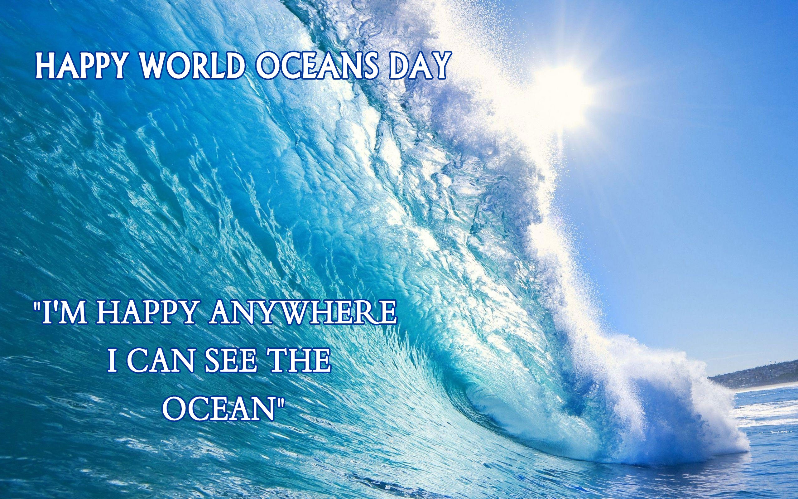 World Oceans Day Quote Labtop 2560x1600