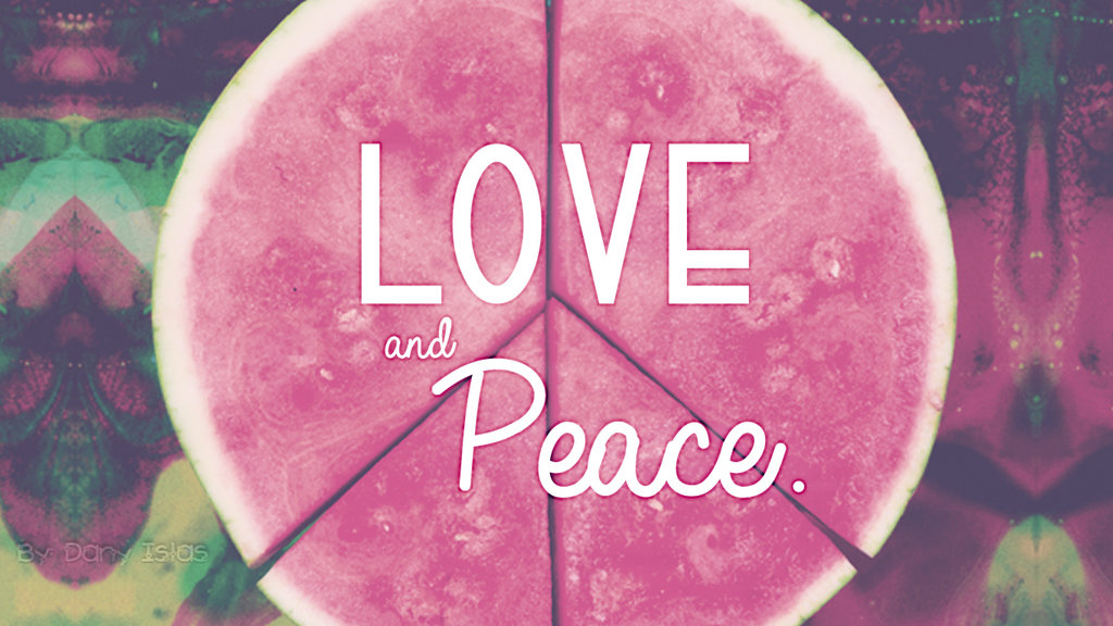 Peace and Love Wallpaper - WallpaperSafari