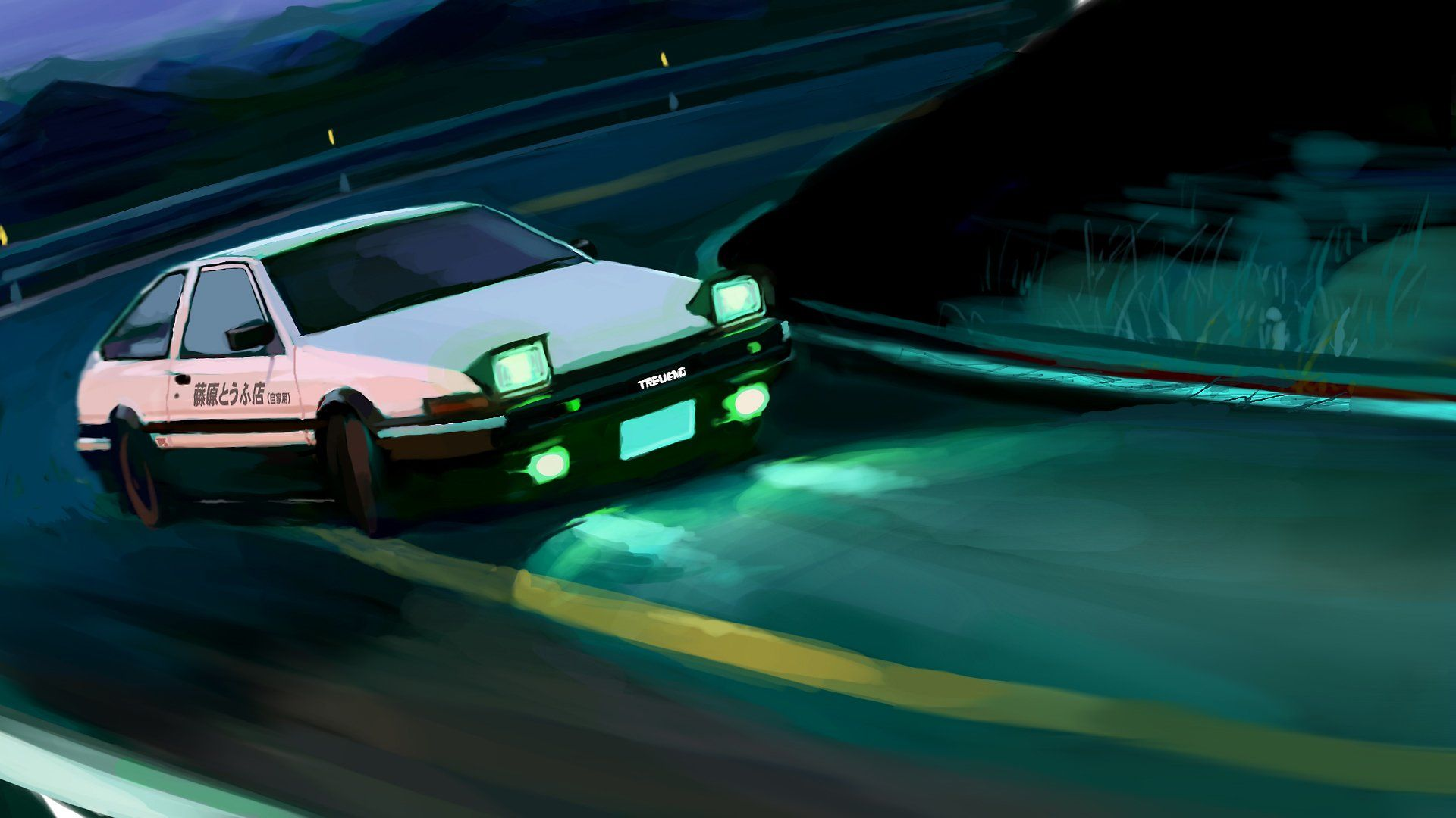 Anime Initial D Final Stage Toyota AE86 Toyota Trueno Wallpaper 1920x1080