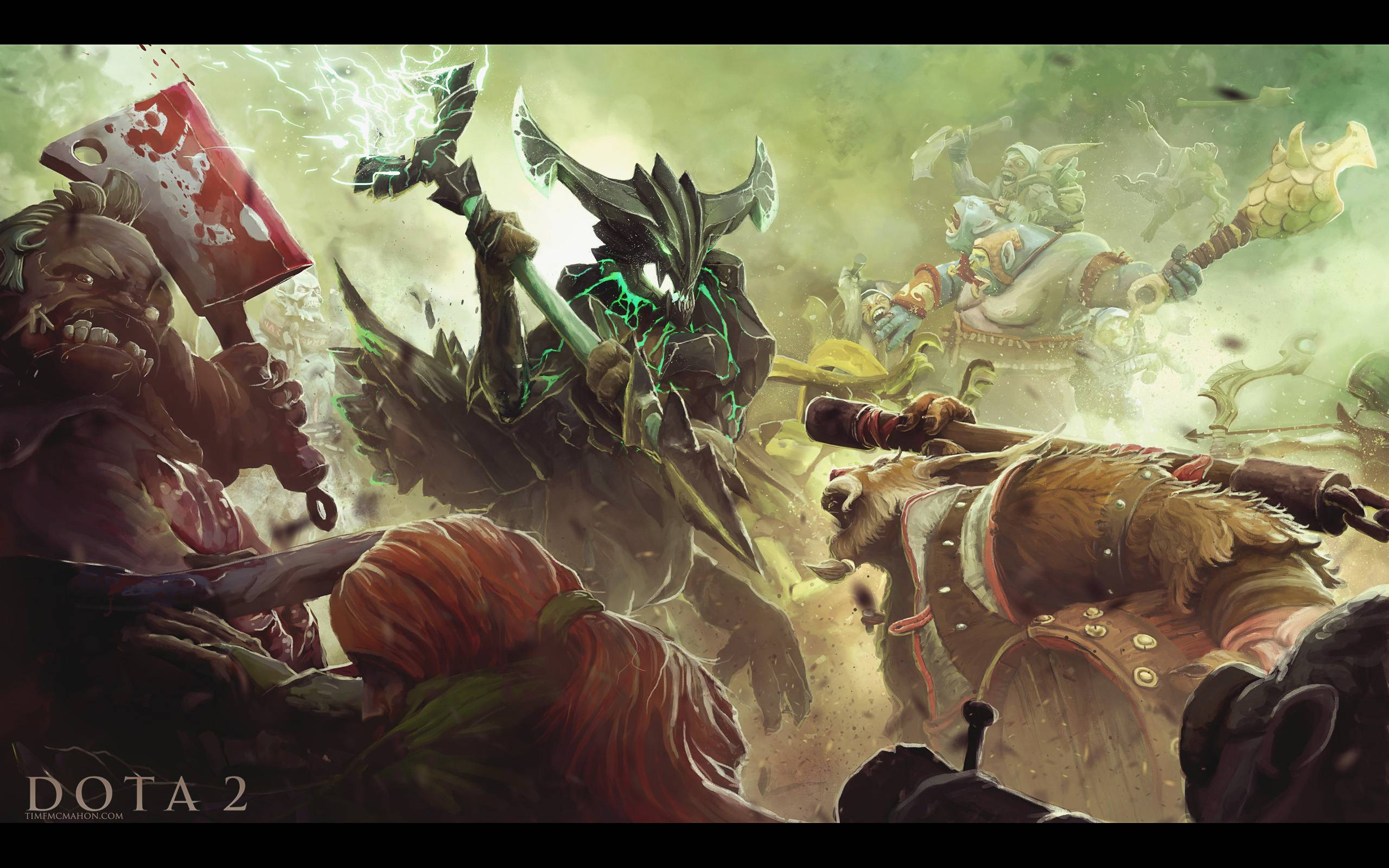 Hey rDota2 I made a battle scene for you Let me know what you 2560x1600