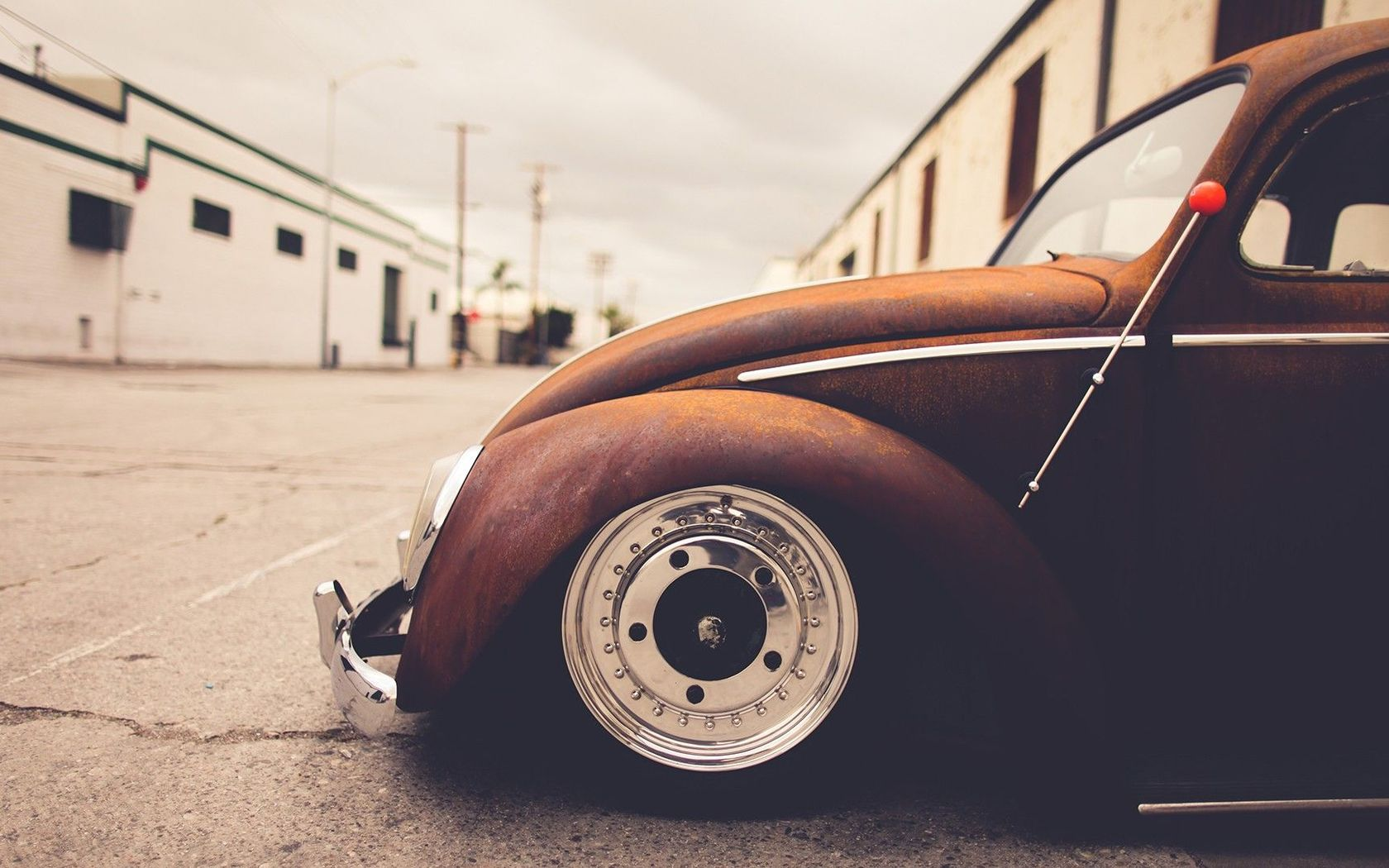 Download Rusty Volkswagen Beetle wallpaper 1680x1050