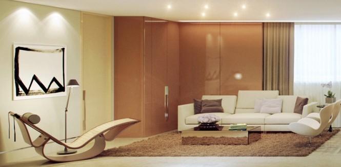 Brown Cream Living Room 665327 Rendered Minimalist Spaces by Rafael 665x327