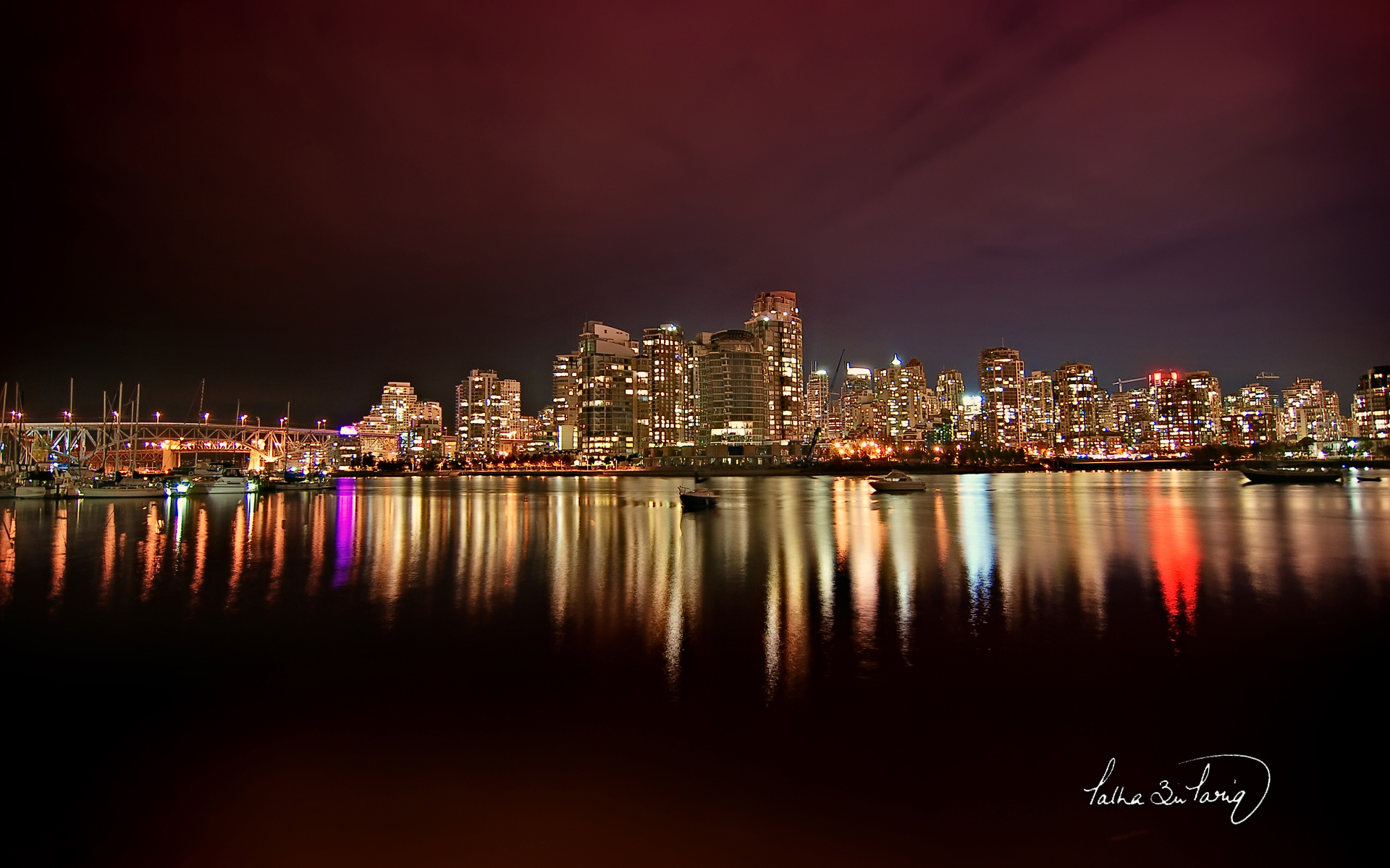 Vancouver City Nights Wallpapers HD Wallpapers 1920x1200