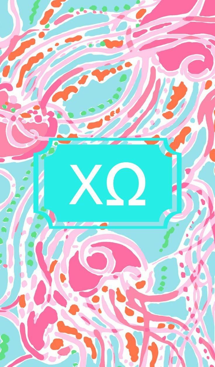 Chi Omega monogram background CHI OMEGA yours forever Pinterest 736x1258