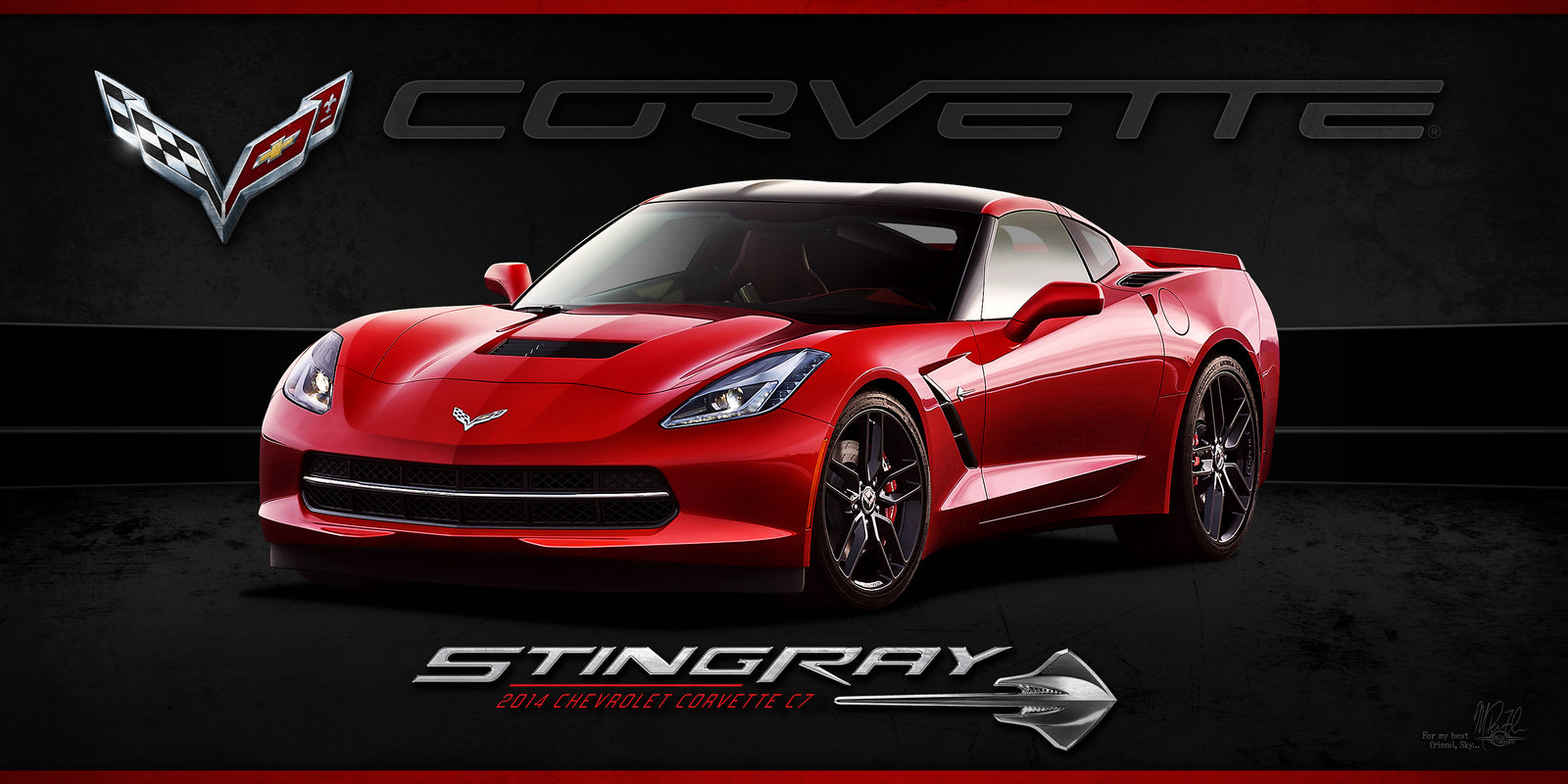 2014 Corvette Stingray Wallpaper picture size 1600x800 posted by 1600x800