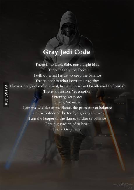 The Grey Jedi Code by EchoArcher 460x650