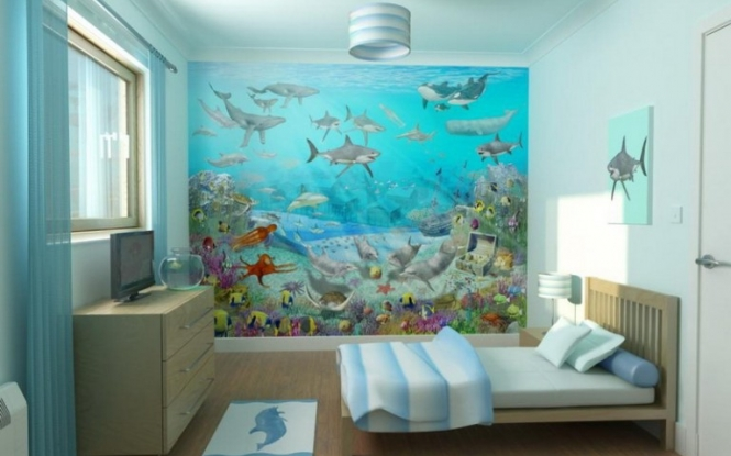 Mural Bedroom Design 12 Awesome Wall Murals Kids Rooms Foto Ideas 665x415