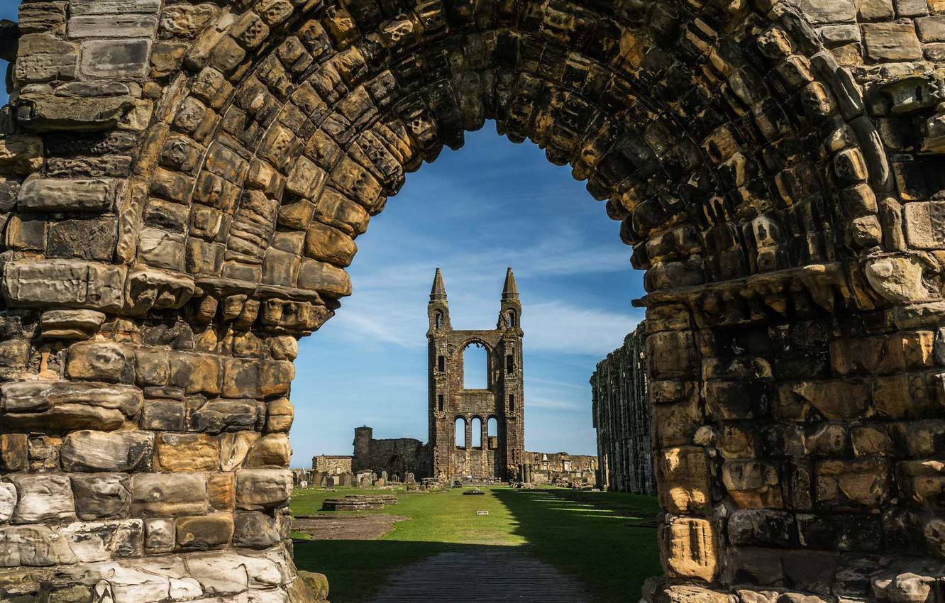 Wallpaper Scotland arch architecture St Andrews St Andrews 1332x850