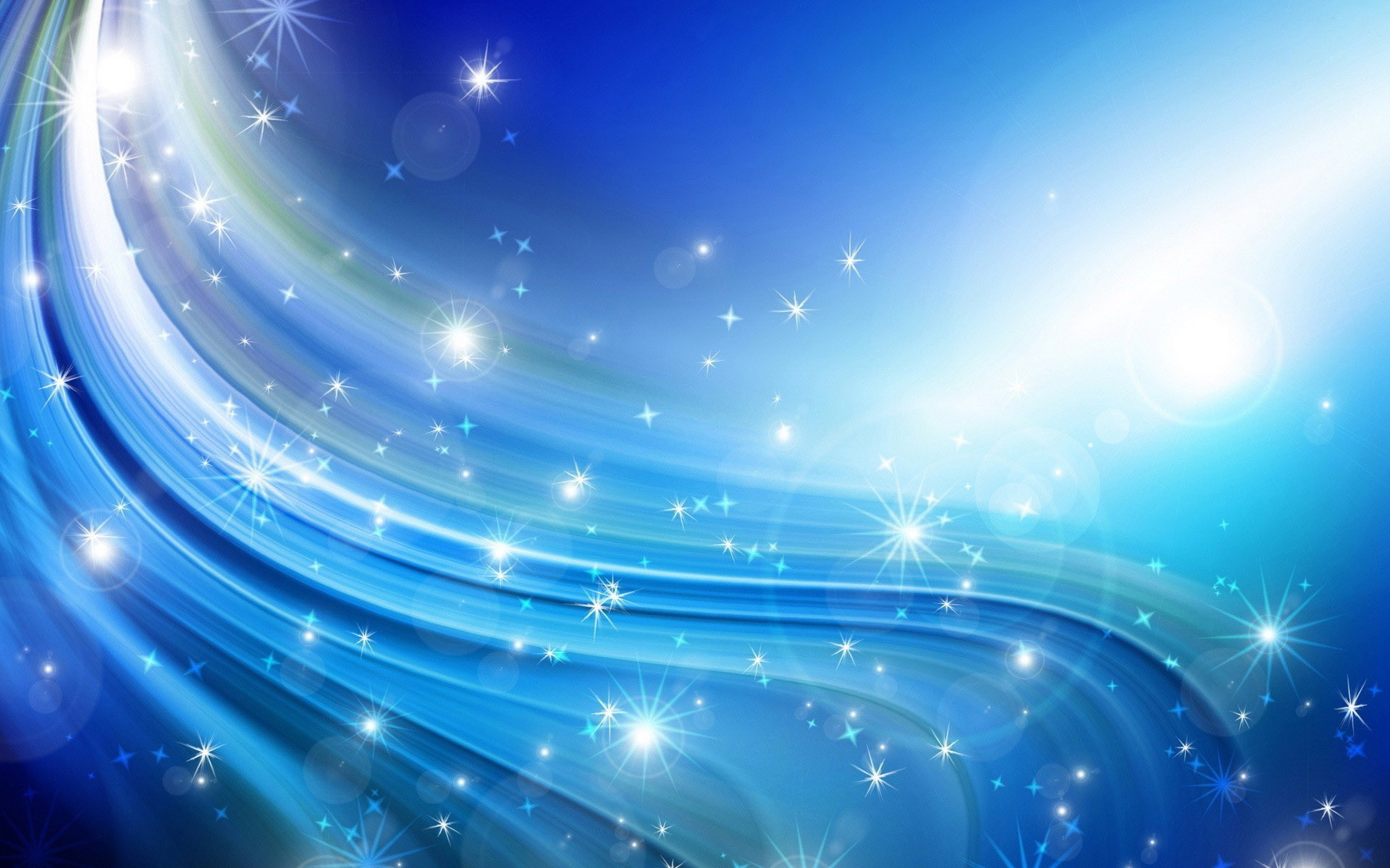 Blue Sparkle Backgrounds 1920x1200