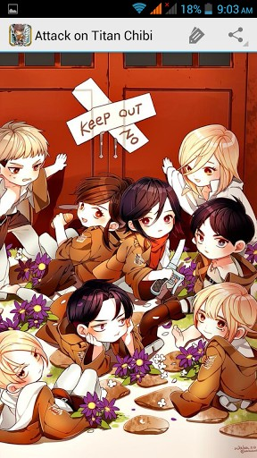 View bigger   Attack on Titan Chibi for Android screenshot 288x512